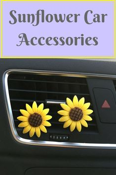 Brighten up your automobile with sunflower car accessories. If you love sunflowers like I do, you can jazz up your vehicle with them.There are so many options when it comes to decorating your car. Some things do to decorate the inside are hang charms from the rear view mirror, cover your seats or steering wheel. Outside you can express your personality but adding vinyl decals, or a license plate tag. #sunflower #accessories