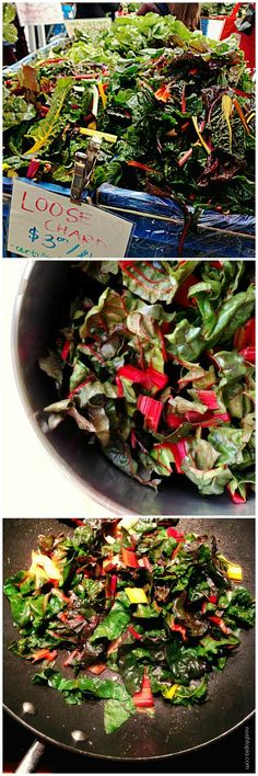 Looking for some ideas for that lovely bouquet of organic red chard I just got!~~Beautiful Chopped Red Chard Makes For Some Simple Luscious  Vegan Stir-fry. mmm...step your greens up!