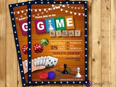 Video Game Party Invitation Template Inspirational Game Night Invitation Game Party Invite Old School Games Couples Game Night, Family Game Night, Birthday Games, Birthday Party Invitations, 13th Birthday, Bingo, Game Night Parties, Outdoor Party Games, Video Game Party