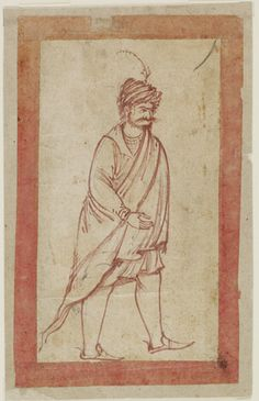 Portrait of an Indian Man Safavid period Ink on paper H: 6.0 W: 9.7 cm Iran Purchase F1953.59 Freer-Sackler | The Smithsonian's Museums of Asian Art