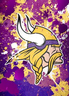 "NFL Team Emblems Minnesota Vikings #Displate artwork by artist ""Cody Johnson"". Part of a 21-piece set featuring designs based on team emblems from the NFL National Football League. £35 / $46 per poster (Regular size), £71 / $94 per poster (Large size) #NFL #NationalFootballLeague #AmericanFootball #SuperBowl #MinnesotaVikings #Vikings"