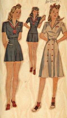 1940 sailor play suit pattern PDF by GlamorousPatterns on Etsy