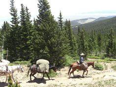 Pack trip into the Sangre de Cristo lead by Zapata Ranch staff. #ZapataRanch