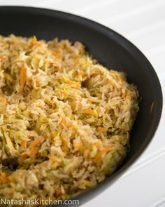 Cabbage Fried Rice: great way to use leftover rice, shredded cabbage, and other veggies