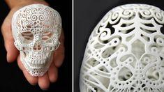 3D Printed Filigree Skull (from $50)