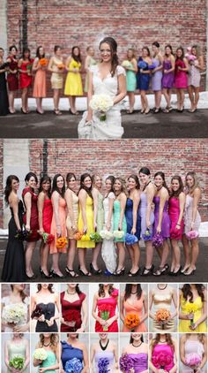 Colorful bridesmaid dresses, stunning dresses
