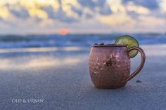 Enjoy Sunset with a refreshing drink and keep it cool  - Get a Pure Copper Mug for $21.99 here: http://www.amazon.com/dp/B00TWTJEJS  #MoscowMuleMugs
