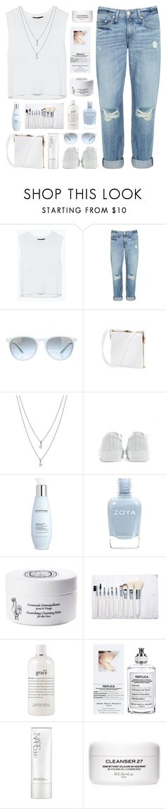 """morning mist"" by martosaur ❤ liked on Polyvore featuring rag & bone, Ray-Ban, Eva Fehren, Acne Studios, Darphin, Zoya, Diptyque, philosophy, Maison Margiela and NARS Cosmetics"