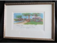 Collectibles — Framed and Signed Print of the Carter Presidential Library
