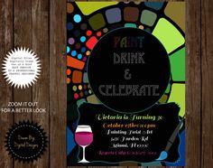 Painting Party Art Invitation Party Invitation by DreamBigDigital