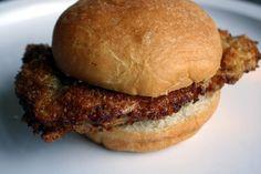Homemade Pork Tenderloin Sandwich