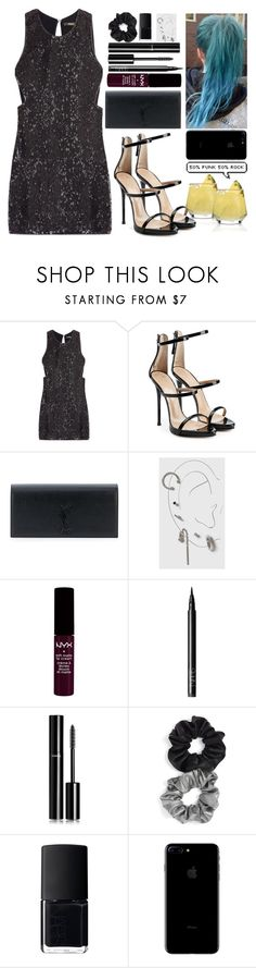 """""""[Night out w/ the girls in Australia]"""" by purplemonkeys005 on Polyvore featuring Roberto Cavalli, Giuseppe Zanotti, Yves Saint Laurent, Topshop, Forever 21, NARS Cosmetics, Chanel, Berry and mandy"""