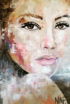 Tips&Tricks 1 – Marion Nap – Art Couture Abstract Portrait, Portrait Art, Acrylic Portrait Painting, Painting People, Face Art, Figurative Art, Painting & Drawing, Watercolor Paintings, Modern Art