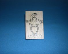 """Christmas """"BANNER ELF"""" Rubber Stamp by Print Works Annie Lang 1996 2 1/2""""  by 4"""" #PrintWorks"""