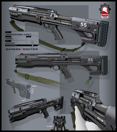 Ascend Shotgun, Kris Thaler on ArtStation at https://www.artstation.com/artwork/81KZO
