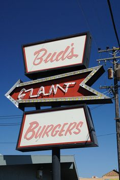 Bud's Giant Burgers #neon 3849 Sonoma Blvd, Vallejo  BEST BURGERS IN VALLEJO!! Vallejo California, California Dreamin', Northern California, The French Laundry, Santa Clara County, East Bay, My Canvas, Bay Area, Wine Tasting