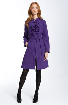 Kate Spade purple coat  I NEED THIS AT NORTHWESTERN! School colors and warm jacket, who could refuse?