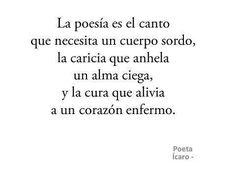 La poesía..