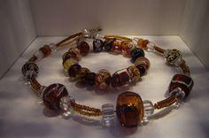 Lampwork Glassbeads by SybillSalabim Set bestehend aus Armband und Halskette