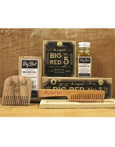 Big Red Beard Kit  2 Combs 1 Beard Oil by BigRedBeardCombs on Etsy, $51.00