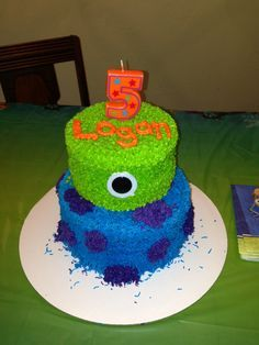 monsters inc cake for Gregory's birthday