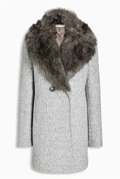 Buy Bouclé Coat from the Next UK online shop