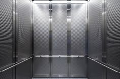 Durable Elevator Interior by Forms + Surfaces