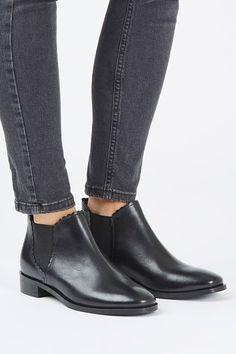 516ed9e853c Every girl needs a pair of Chelsea boots in her wardrobe. We re loving this  real leather blended pair with classic rounded toes in a luxe black