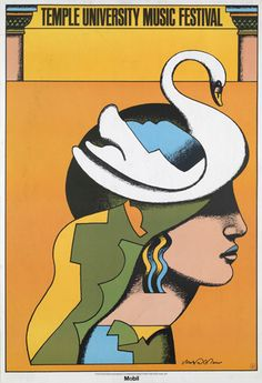 Music Festival poster by Milton Glaser, 1975