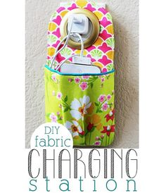 Tutorial: Cell phone charging station or stroller pocket