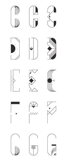Display typefaces composed by endless configurations on a rigid structure. These are just some examples.
