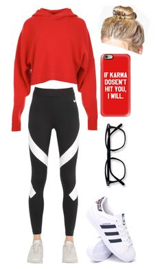 """""""Lazy Morning"""" by gracefully-artistic on Polyvore featuring TIBI, NIKE, Boohoo, adidas and Casetify"""