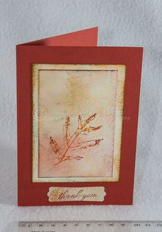 Greeting Card Thank You  Autumn Leaf Thank You by warratahstree, $3.00