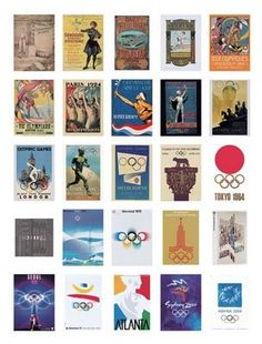 Olympic poster designs 1896 - 2004