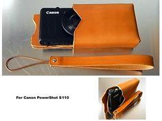 □Canon PowerShot S100用のレザーケースを作りました。□シンプル&レトロです。レザーの箱です。□金具などもあえて付けませんでした。□... ハンドメイド、手作り、手仕事品の通販・販売・購入ならCreema。