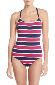 Tommy Bahama Stripe One-Piece Swimsuit available at #Nordstrom