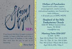 4x6 Starry Eyed Post Card with Meeting Dates