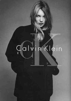 Kate Moss by Patrick Demarchlier for Calvin Klein. Creative direction Neil Kraft. KraftWorks NYC