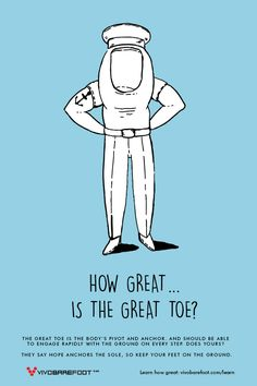 The Great Toe is the body's pivot and anchor. And should be able to engage rapidly with the ground on every step. They say hope anchors the sole, so keep your feet on the ground  Illustration by Masha Karpushina Hope Anchor, Anchors, Toe, Sayings, Illustration, Fitness, Lyrics, Anchor, Illustrations