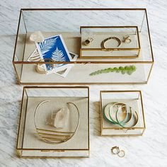 Glass Shadow Boxes #westelm