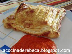 Recetas de Navidad - Plato principal - Pescado - Hojaldre de bacalao con salsa de piquillos