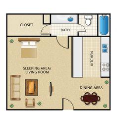 efficiency apartment rent Efficiency Apartment Floor Plans house