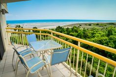 Great beach views from the private balcony - Beachfront @ Ocean Creek Resort, large 3BR condo! -  - rentals