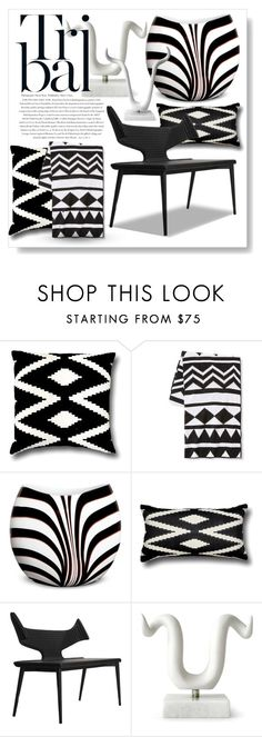 """""""Tribal Home #2"""" by ellenawaters ❤ liked on Polyvore featuring interior, interiors, interior design, home, home decor, interior decorating, 5 Surrylane, Xhilaration, Envi and Waterford"""