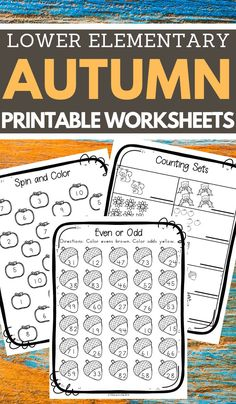 I needed some new materials for homeschool and these fall worksheets for elementary were exactly what I needed. Click through to get this free printable set of autumn worksheets for elementary school! Homeschool Worksheets, Reading Worksheets, Kindergarten Worksheets, Worksheets For Kids, Halloween Worksheets, Halloween Activities, Homeschooling, Simple Math, Elementary Schools