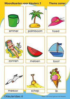 summer words with pictures kindergarten expert, summer theme Kindergarten Songs, Free Kindergarten Worksheets, Language Activities, Writing Activities, Summer Activities For Kids, Toddler Activities, Teaching Kids, Kids Learning, Summer Decoration