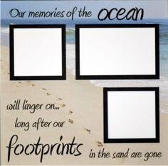 EZLaserDesigns : Our Memories of the Ocean scrapbook overlay beach vacation layout