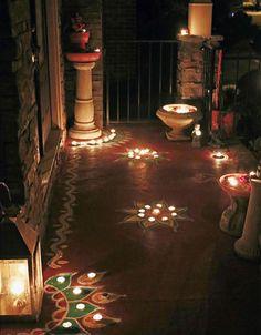 Diwali Décor, Diwali decorations, Diwali home décor, Diwali Inspiration, India. Diwali Decoration Lights, Diwali Decorations At Home, Diwali Lights, Light Decorations, Flower Decorations, Balcony Decoration, Diwali Diya, Diwali Craft, Rangoli Ideas