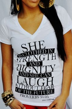 the verse Zac picked to describe me on our wedding day. Love this vneck.