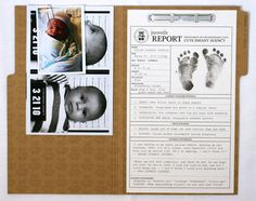Adorable birth announcement idea!!  (Like I'll have time to create something like this...) :)